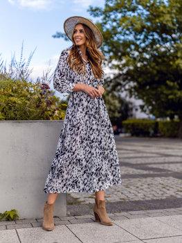 Bílé dámské šaty Bolf A468