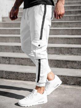 Bílé pánské jogger kapsáče Bolf 0012-1