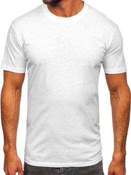 Bílé pánské tričko bez potisku Bolf 14291