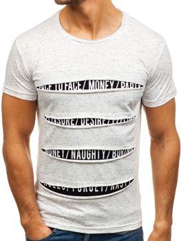 Bílé pánské tričko s potiskem Bolf 1881