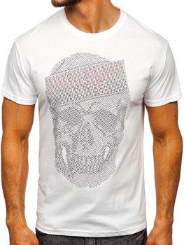 Bílé pánské tričko s potiskem Bolf KS2108
