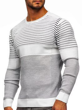 Bílý pánský svetr Bolf 1014