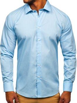Blankytná pánská elegantní košile s dlouhým rukávem Bolf SM38