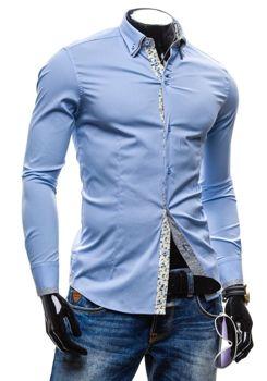 Blankytná pánská košile Bolf 7180