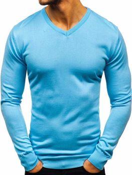 Blankytný svetr s výstřihem do V Bolf 2200