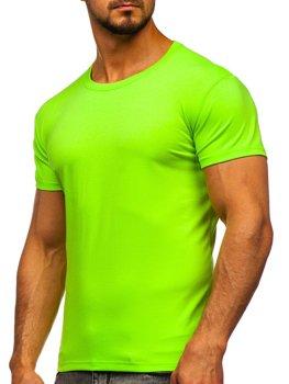 Celadonové pánské tričko bez potisku Bolf 2005