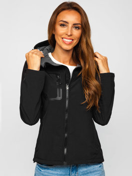 Černá dámská přechodová softshellová bunda Bolf 9055