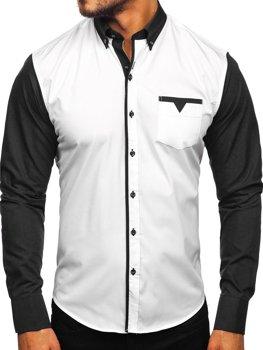 Černá pánská elegantní košile s dlouhým rukávem Bolf 5726-1