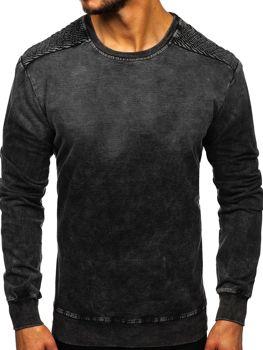 Černá pánská mikina bez kapuce Bolf KK1030