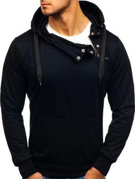Černá pánská mikina s kapucí Bolf 7087