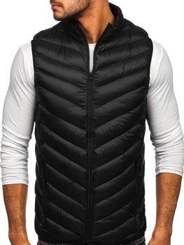 Černá pánská prošívaná vesta Bolf HDL88006