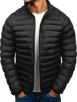 Černá pánská sportovní zimní bunda Bolf SM53-A