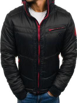 Černá pánská zimní bunda Bolf 122A