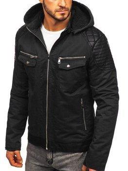 Černá pánská zimní bunda Bolf 3613