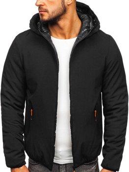 Černá pánská zimní bunda Bolf R1271