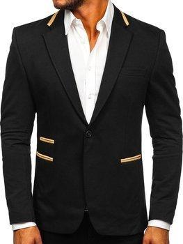 Černé elegantní pánské sako Bolf 9400