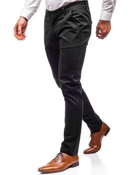 Černé pánské chino kalhoty Bolf 2901