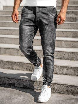 Černé pánské džínové jogger kahoty Bolf R31002S0