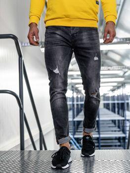 Černé pánské džíny slim fit Bolf KX313