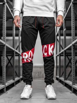 Černé pánské jogger tepláky Bolf MK11
