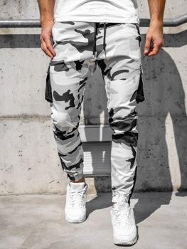 Černo-bílé pánské jogger kapsáče Bolf 0705