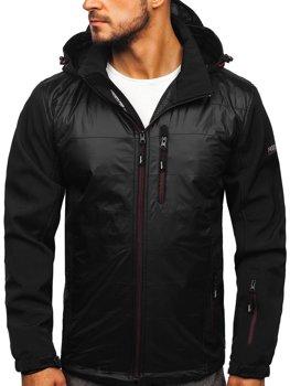 Černo-červená pánská softshellová bunda Bolf 5680