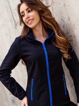 Černo-modrá dámská přechodová softshellová bunda Bolf HH018