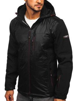 Černo-oránžová pánská softshellová bunda Bolf 5680