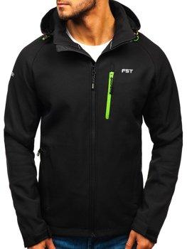 ?erno-zelená pánská softshellová bunda Bolf 107A