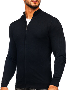 ?erny pánsky svetr na zip Bolf YY07