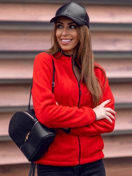 Červená dámská fleecová mikina Bolf HH002