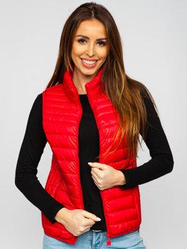 Červená dámská prošívaná vesta Bolf B2705