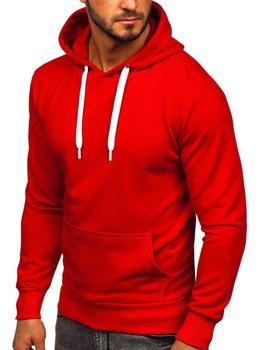 Červená pánská mikina s kapucí Bolf 1004
