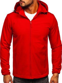 Červená pánská přechodová softshellová bunda Bolf HH017
