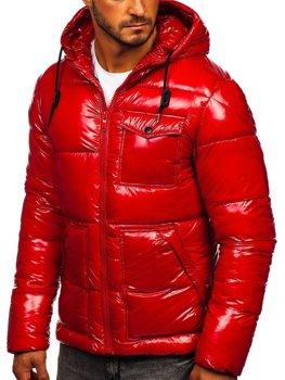 Červená pánská prošívaná zimní sportovní bunda Bolf 973