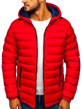 Červená pánská sportovní zimní bunda Bolf JP1101