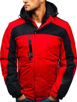 Červená pánská zimní lyžářská bunda Bolf HZ8112 7d04a1e71df