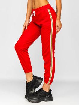 Červené dámské tepláky Bolf YW01020B