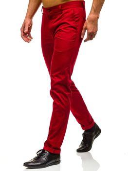 Červené pánské chino kalhoty Bolf 0204