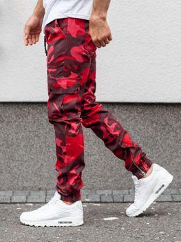 Červené pánské jogger kalhoty Bolf 0858