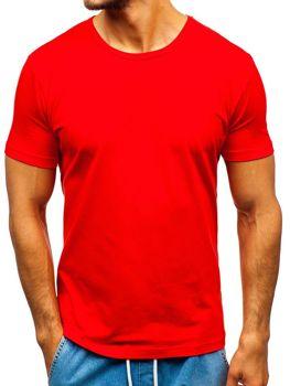 Červené pánské tričko bez potisku Bolf T1042