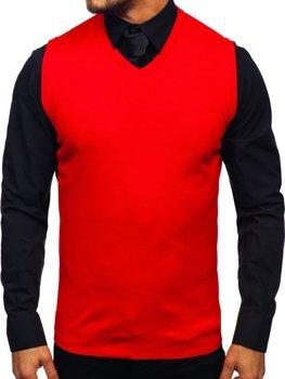 ?erveny pánsky svetr bez rukáv? Bolf 2500