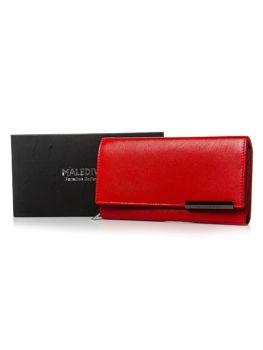 Dámská červená kožená peněženka 2689