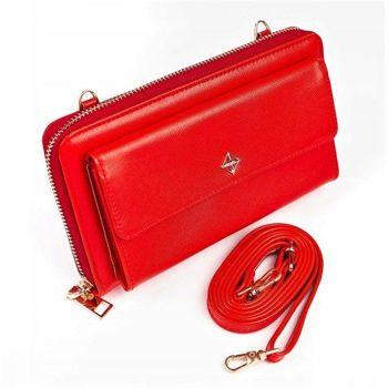 Dámská červená koženková peněženka 1117