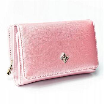 Dámská růžová koženková peněženka 2310