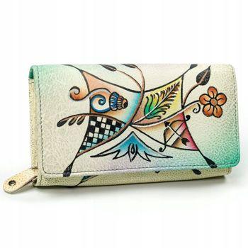 Dámská vícebarevná kožená peněženka 3095