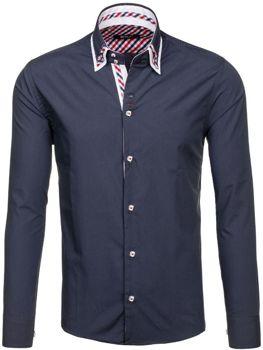 Grafitová pánská elegantní košile s dlouhým rukávem Bolf 6963
