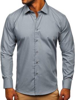 Grafitová pánská elegantní košile s dlouhým rukávem Bolf SM16