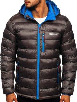 Grafitová pánská pro?ívaná sportovní zimní bunda Bolf BK145