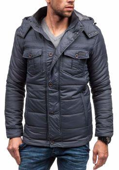 Grafitová pánská zimní bunda Bolf 3293